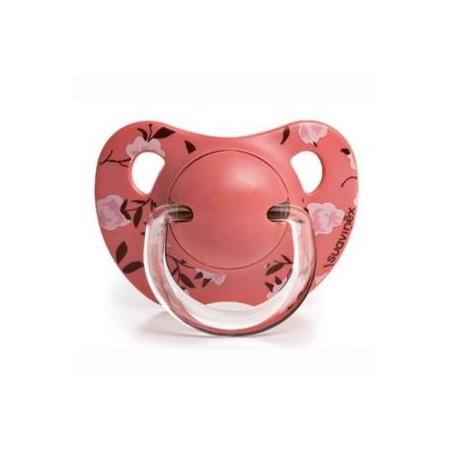 Chupete Suavinex Evolution rosa anat. látex +6m 2uds