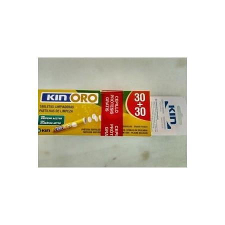 Kin oro tabletas limpiadoras envase ahorro 60 comp.