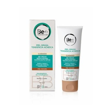 Be+ BB cream reguladora matificante SPF20 piel oscura 40 ml