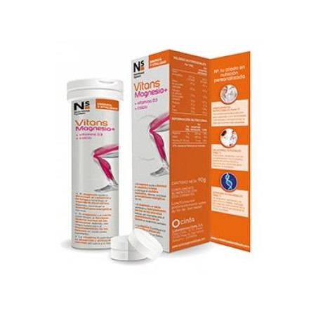 NS Vitans Magnesio+ 15 comp eferv sabor naranja