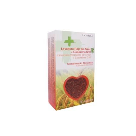 Levadura de arroz con CoEnzima Q10 RuedaFarma 30 cápsulas.