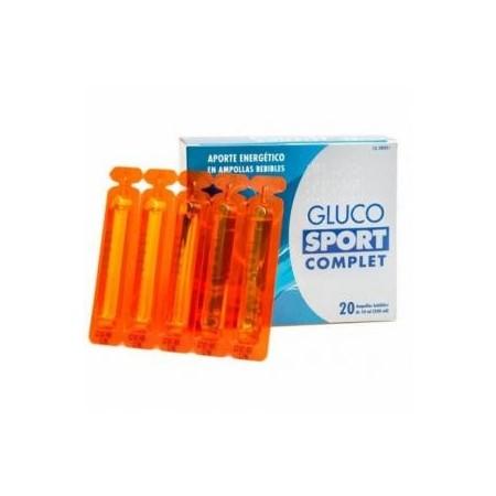 Glucosport 20 ampollas bebibles.