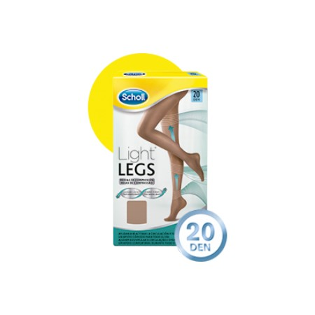"Scholl medias ""Light Legs"" 20 DEN carne talla XL"