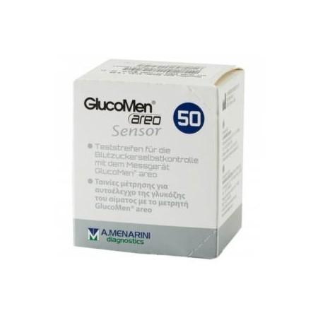 Tiras reactivas glucomen Areo sensor 50 tiras
