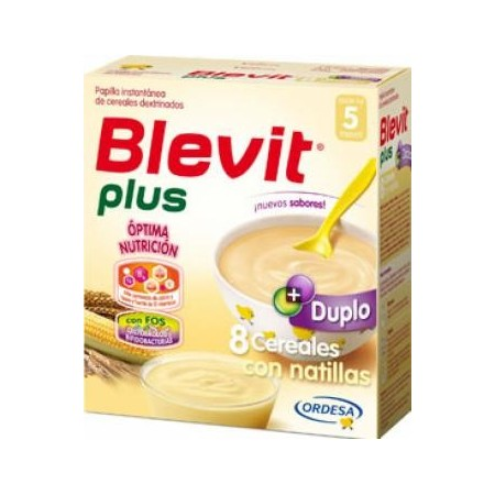 Blevit plus Duplo 8 cereales con natillas 600 g
