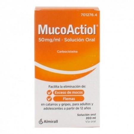 MUCOACTIOL 50 MG/ML SOLUCION ORAL 1 FRASCO 200 ML
