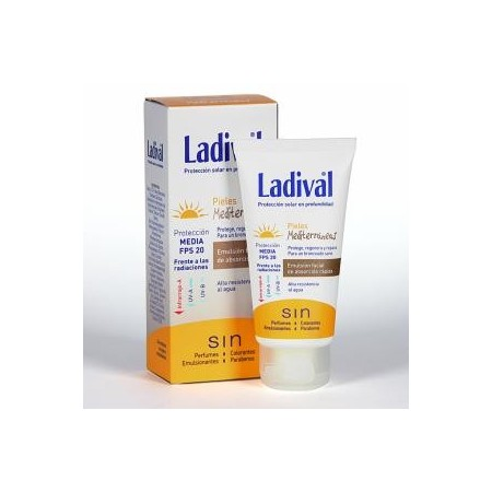 LADIVAL PIELES MEDITERRANEAS FPS 20 EMULSION FACIAL 50 ML