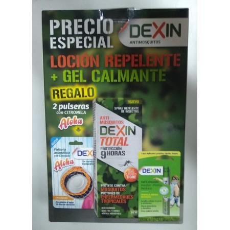PACK ANTIMOSQUITOS DEXIN 2 PULSERAS+REPELENTE+LAPIZ CALMANTE