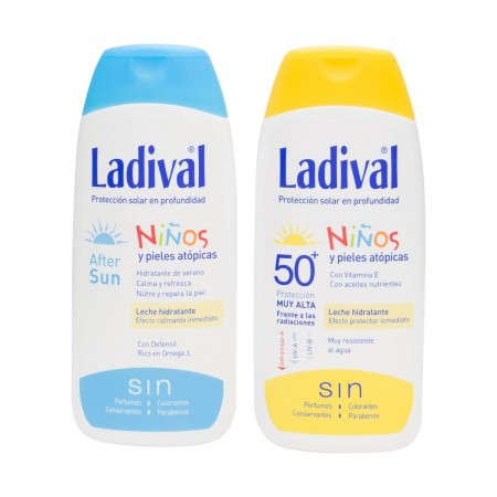 LADIVAL NIÑOS FPS 50+ LECHE 200 ML + AFTERSUN 200 ML DE REGALO