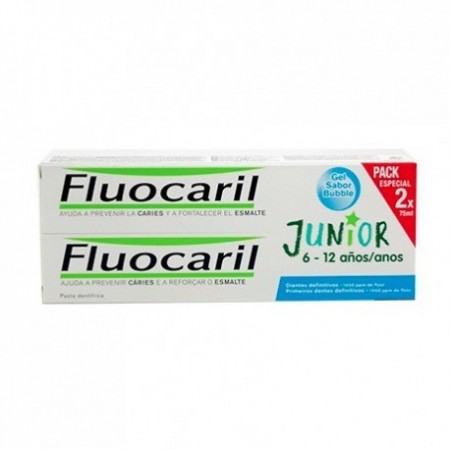 FLUOCARIL JUNIOR 6-12 AÑOS GEL 2 X 75 ML BUBBLE