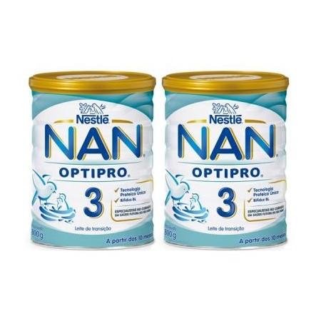 NAN 3 A PARTIR DEL AÑO PACK 2X800 G