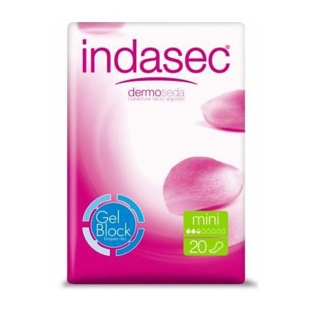 INDASEC MINI - Capacidad de absorción de 80 ml. 20 unid.