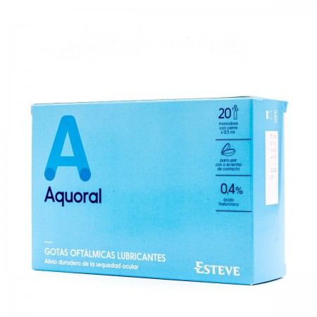 AQUORAL 20 MONODOSIS HUMECTANTES C/ A HIALURONICO 0.4%