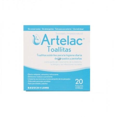 Artelac 20 toallitas estériles limpieza párpados
