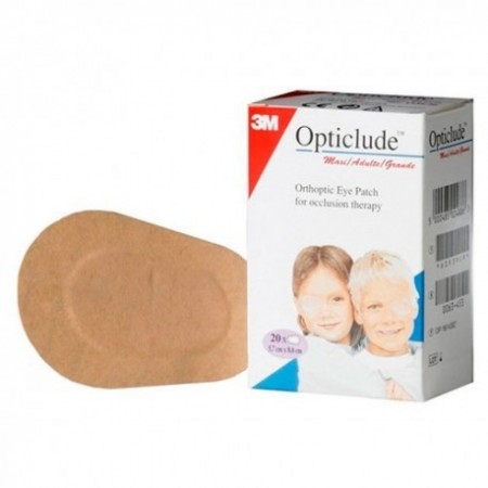 OPTICLUDE PLUS PARCHES OCULARES T- PEQ 20 U