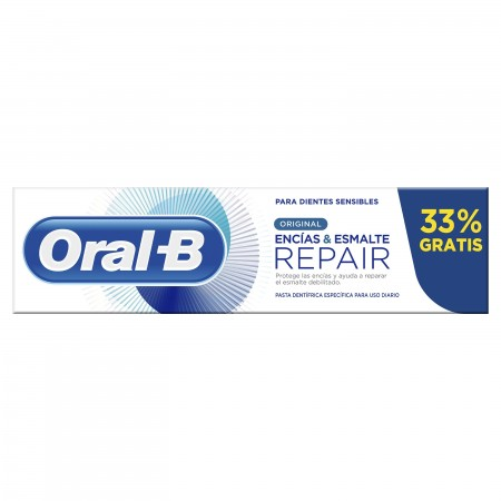 ORAL-B REPAIR ENCIAS & ESMALTE ORIGINAL PASTA DENTAL 75+25 ML