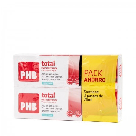 PHB TOTAL PASTA DENTIFRICA 75 ML +75 ML