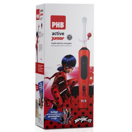 CEPILLO PHB ELECTRICO ACTIVE JUNIOR ROJO LADYBUG