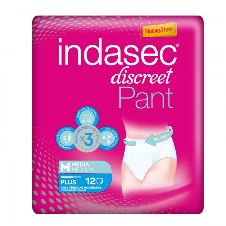 INDASEC PANTS PLUS T.MEDIA 12 UDS