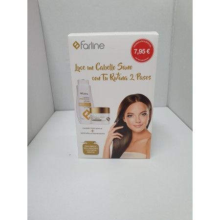 FARLINE PACK CABELLO SANO (CHAMPU 500 ML + MASCARILLA 300 ML)