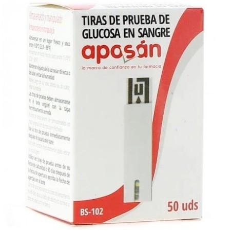 TIRAS REACTIVAS GLUCEMIA APOSAN 50 U