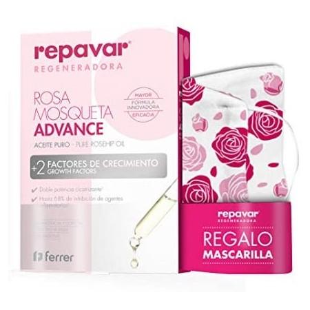 REPAVAR REGENERADORA ACEITE ADVANCE ROSA MOSQUETA 15 ML + MASCARILLA REGALO