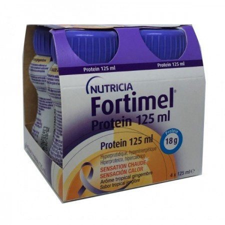 FORTIMEL PROTEIN 4 BOTELLAS 125 ML SABOR TROPICAL JENGIBRE
